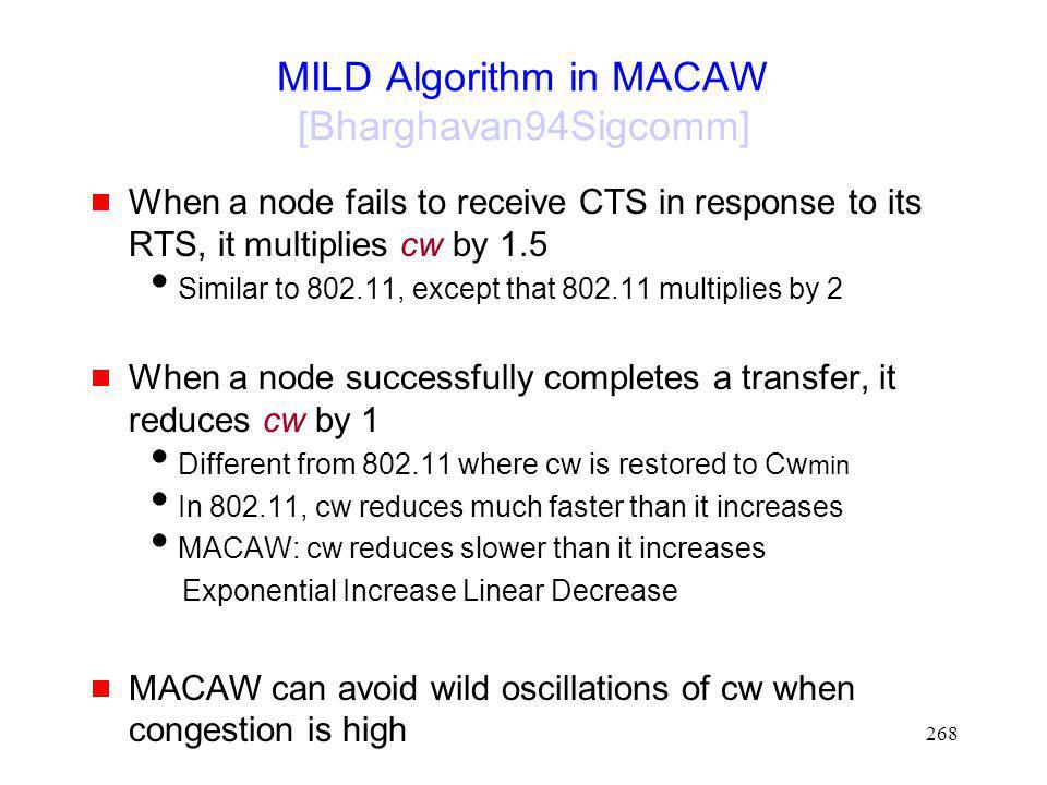 MILD Algorithm in MACAW [Bharghavan94Sigcomm]